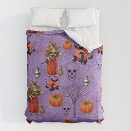 Vintage Halloween Pattern Comforters