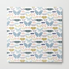 butterflies thread pastels Metal Print