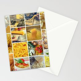 Pasta Collage - Cafe or Restaurant Decor Stationery Cards