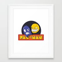 pac man Framed Art Prints featuring pac-man by Jung Imjen