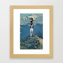 Baby Blue Daydreamers  Framed Art Print