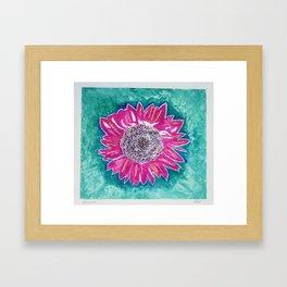 Hot Pink Sunflower Framed Art Print