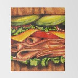 Sandwich- Turkey Bacon Avocado Throw Blanket