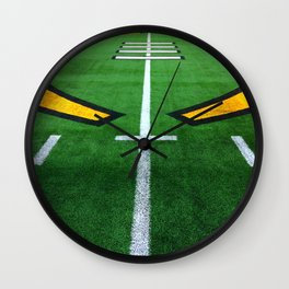 Rugby playing field Wall Clock