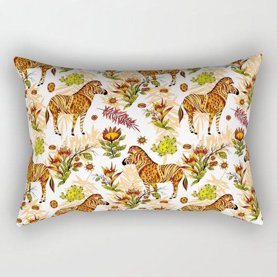 Zebras white pattern Rectangular Pillow