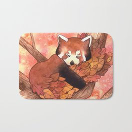 Cute Red Panda Bath Mat