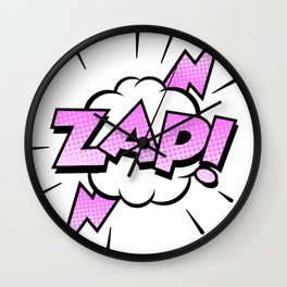 Zap Typography! Wall Clock