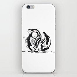 Swan-1. Black on white background-(Red eyes series) iPhone Skin