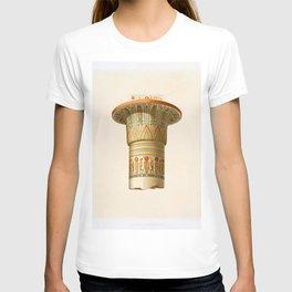 Column of Ramesseum (Thebes) from Histoire de lart egyptien (1878) by Emile Prisse dAvennes T-shirt