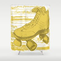 skate Shower Curtains featuring skate haven by Katy V. Meehan