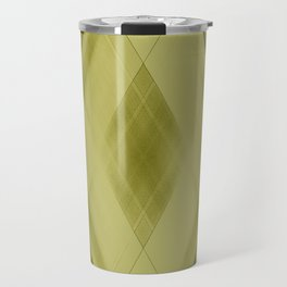Wicker triangular strokes of intersecting sharp lines with honey triangles and stripes Travel Mug