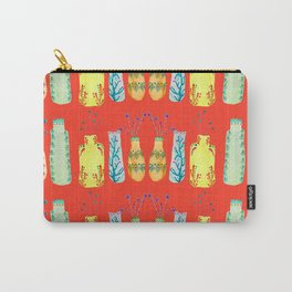Bottle Pattern Carry-All Pouch