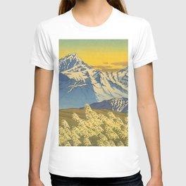 Kawase Hasui Japanese Woodblock Print Shin-hanga Ukiyo-e Landscape, Mountain  1946-1957 T-shirt