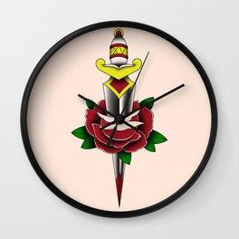 Rose and Dagger Wall Clock