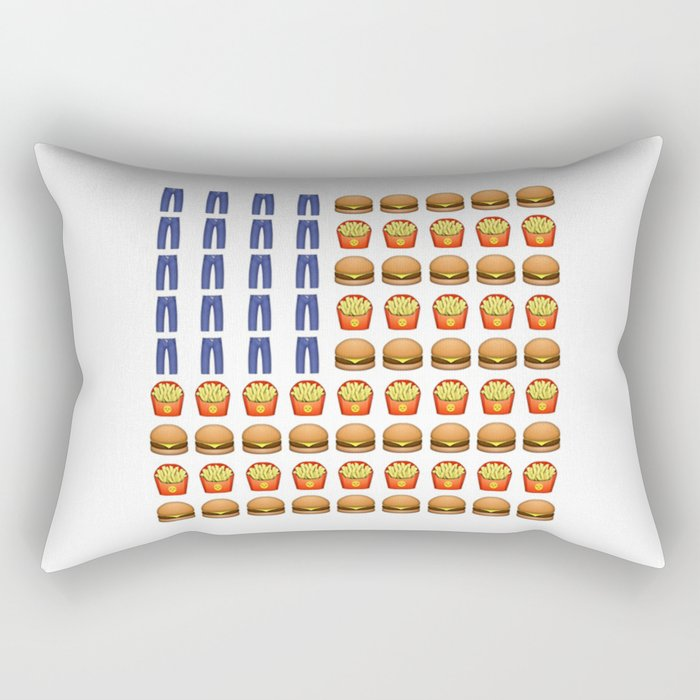 Emoji USA Flag Rectangular Pillow by brookekelty