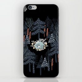 fairytale night forest iPhone Skin