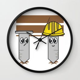 Cute and Unique This Nails Construction Worker Has Serious Cuteness Overload Wall Clock