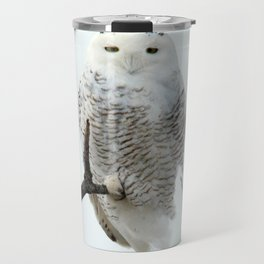 Snowy in the Wind (Snowy Owl 2) Travel Mug