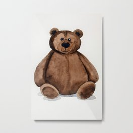 Chubster the Teddy Metal Print