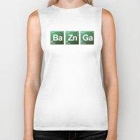 bazinga Biker Tanks featuring Breaking Bazinga by dutyfreak
