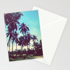Road of palm trees Stationery Cards
