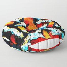 Abstract 6 Floor Pillow