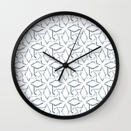 Blue Pattern 008 Wall Clock