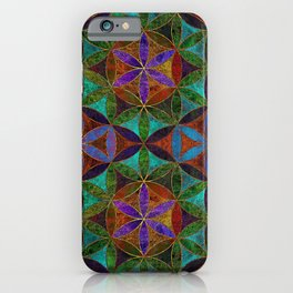 The Flower of Life (Sacred Geometry) 2 iPhone Case