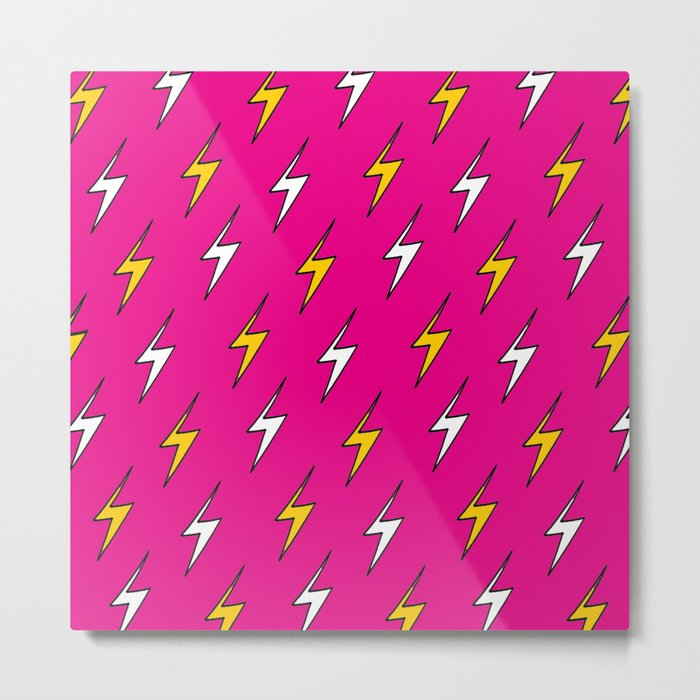 Lightning Bolts Metal Print