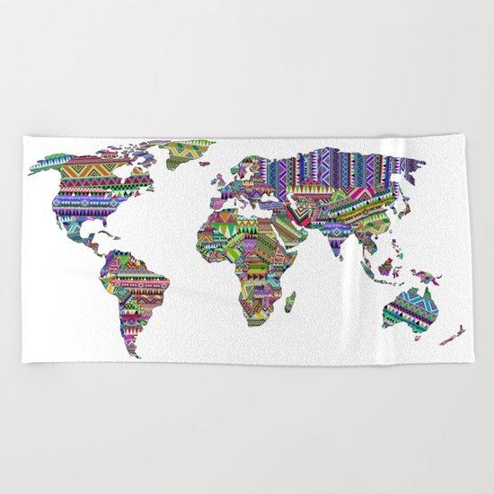 Overdose World Beach Towel