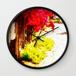 Down by the Mailboxes Wall Clock