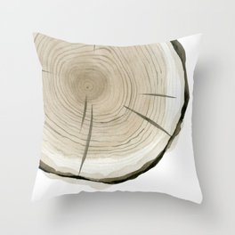 Part of tree slice Throw Pillow