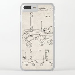 Nasa Mars Rover Patent - Mars Exploration Rover Art - Antique Clear iPhone Case