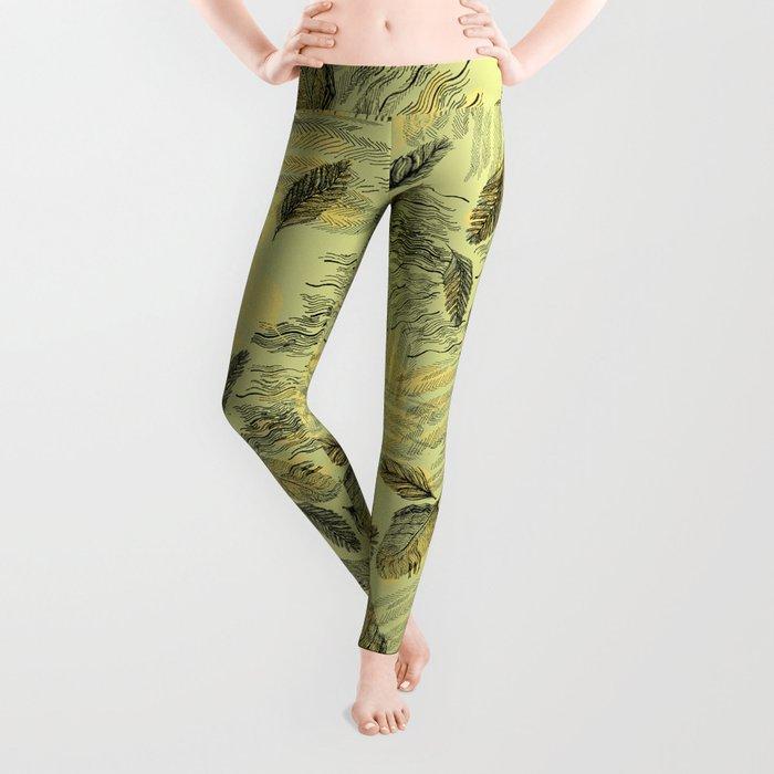Seamless Blossom Pattern Leggings