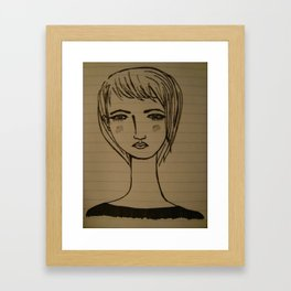 a modern guy's girl Framed Art Print