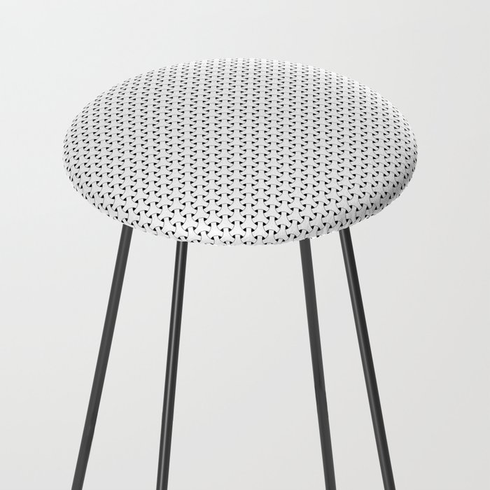 Black and White Basket Weave Shape Pattern - Graphic Design Counter Stool
