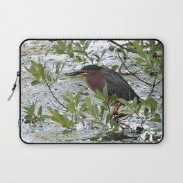 Green Heron at Lakeside Laptop Sleeve