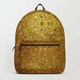 Deep gold glass mosaic Backpack