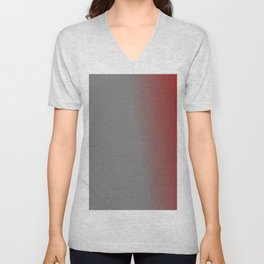 Ombre in Gray Red Unisex V-Neck