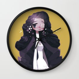 Eye patched girl Wall Clock