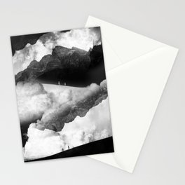 State of black and white isolation Stationery Cards