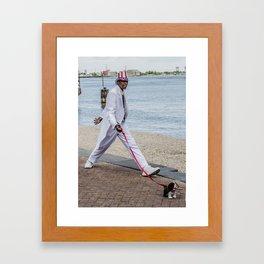 The Living Statue Framed Art Print