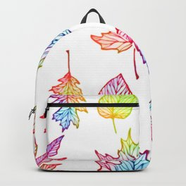 colorful Autumn leaf Backpack