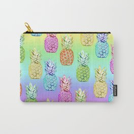 Pineapple Rainbow Carry-All Pouch