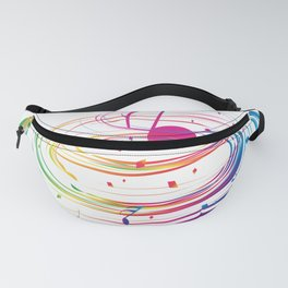 Music Themed T Shirts Colorful Graphic Fanny Pack