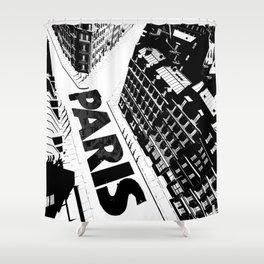 Cities in Black - Paris Shower Curtain