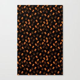 Aliens-Orange Canvas Print