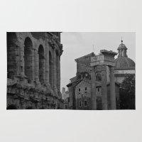 roman Area & Throw Rugs featuring Roman Wanderings by Upperleft Studios