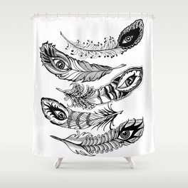 bizarre feathers Shower Curtain
