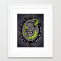 lovecraft Framed Art Prints featuring HP Lovecraft by Jamile B. Johnson